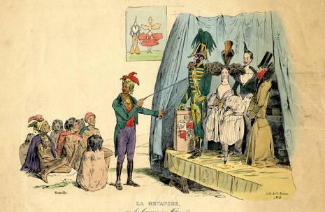 """Grandville, """"La revanche, ou les Français au Missouri"""", 1829"""