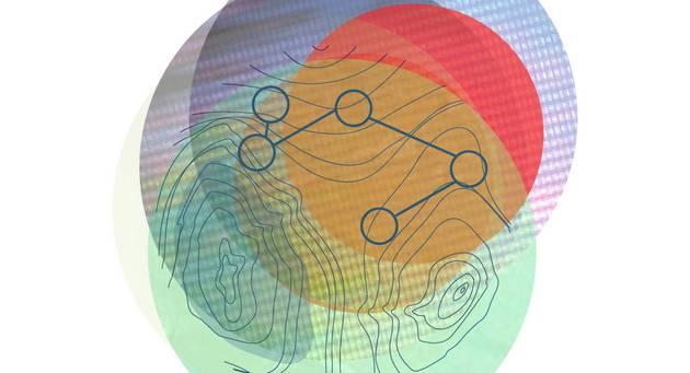 Grafik aus bunten Datenwolken, die sich überlappen