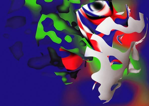 Ausschnitt des Titelbilds von Magazin 33 mit abstrakten bunten Mustern