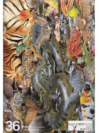 Magazincover mit einer Fotocollage aus unzähligen, wild zusammengewürfelten Tieren