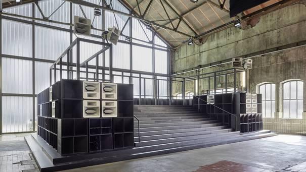 "Jahrhunderthalle Bochum, Installation ""Bergama Stereo"" von Cevdet Erek"