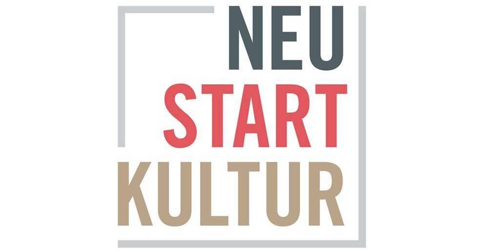 """Logo mit Aufschrift """"Neustart Kultur"""""""