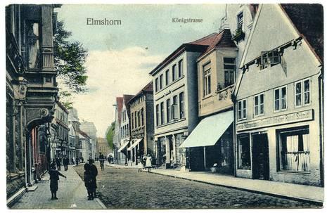 Historische Postkarte, Ansicht der Königsstraße im Jahr 1909