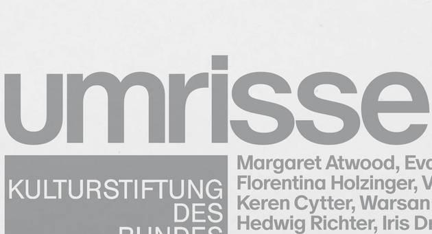 """Ausschnitt des Titelbilds von Magazin 35 mit Schriftzug """"umrisse"""" und Autorennamen"""