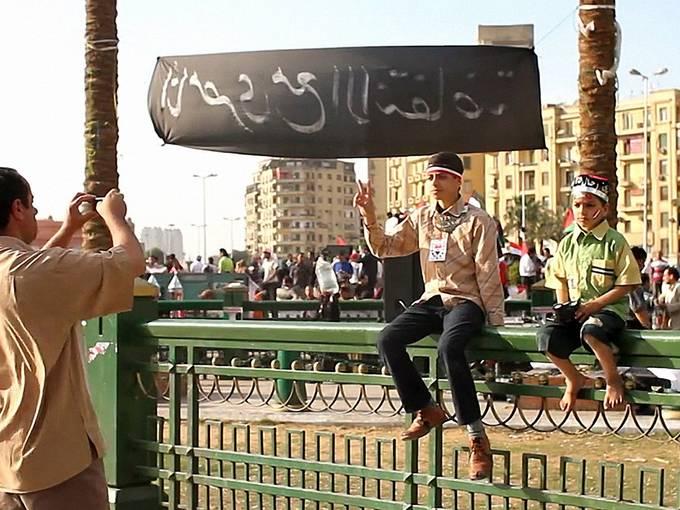 Philip Rizk, Videostill aus: Sidelines from Tahrir, 2011