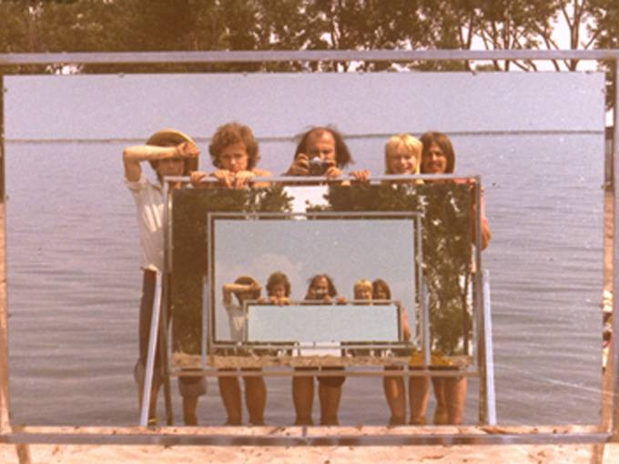 General Idea, Double Mirror Video, (Filmstill), 1971, Courtesy General Idea