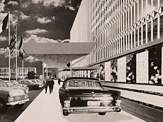 Josef Kaiser, Ministerium für Auswärtige Angelegenheiten der DDR, 1964 – 1967, Bildmontage: Dieter Urbach um 1964