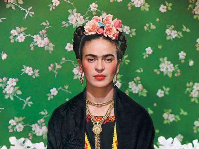 Nickolas Muray: Frida on white Bench [Ausschnitt], New York, 1939, color giclee print, Nickolas Muray Photo Archives, Alta/Utah