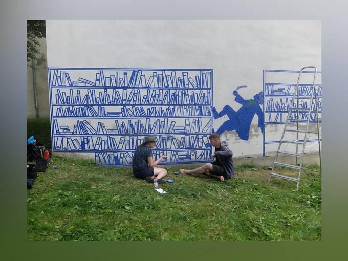 Tape-Art-Bilder von Michael Townsend und Emily Bryant (Providence/US) in Zittau, © Städtische Museen Zittau