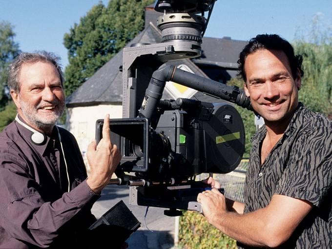 Edgar und Christian Reitz bei Dreharbeiten © Edgar Reitz Filmproduktions GmbH