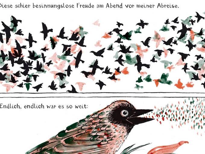 """Auszüge aus der Graphic Novel """"No December"""" © Birgit Weyhe"""