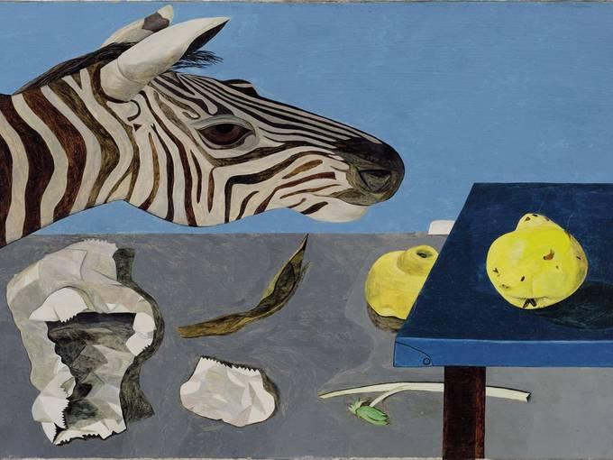 Lucian Freud, Quince on a Blue Table, 1943-44 Sammlung Lambrecht-Schadeberg/Rubenspreisträger der Stadt Siegen, Museum für Gegenwartskunst Siegen © Estate of Lucian Freud/Bridgeman Images