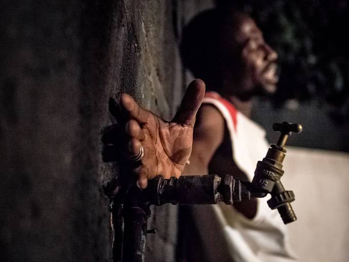 """""""Die Schutzlosen. Les Zéros-Morts"""" - Der Schauspieler Issa Tiendrebeogo während des Castings in Burkina Faso, Foto: Daniel Grohmann"""
