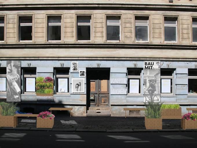 Konzeption der Fassadenansicht für die BAU MIT! Nachbarschaftsaktionen, Foto: Sandra Grimm / Stadtpflanzer e.V.