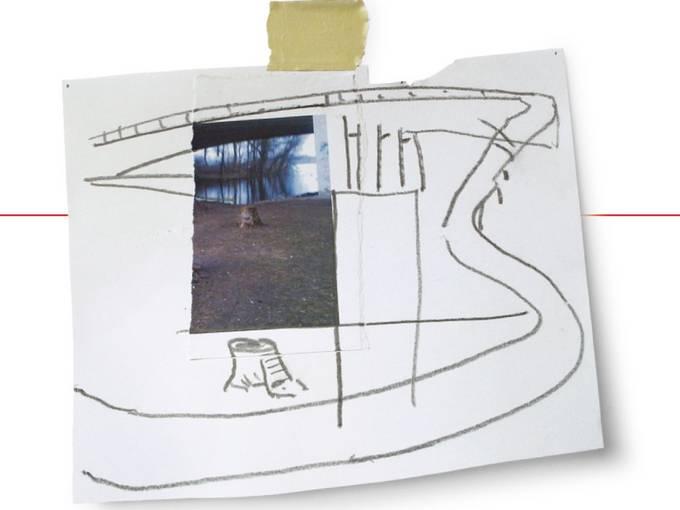 Das akustische Kleist Denkmal. Zeichnung: Heiner Franzen