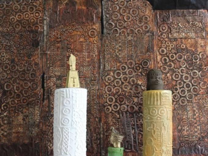 Peju Layiwola, Columns of Memory, Installation, 2015, Foto: Peju Layiwola