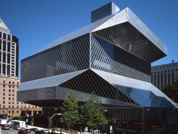 Seattle Central Library, 2004, Architekten: OMA / LMN (Rem Koolhaas und Joshua Prince-Ramus), Foto: Philippe Ruault