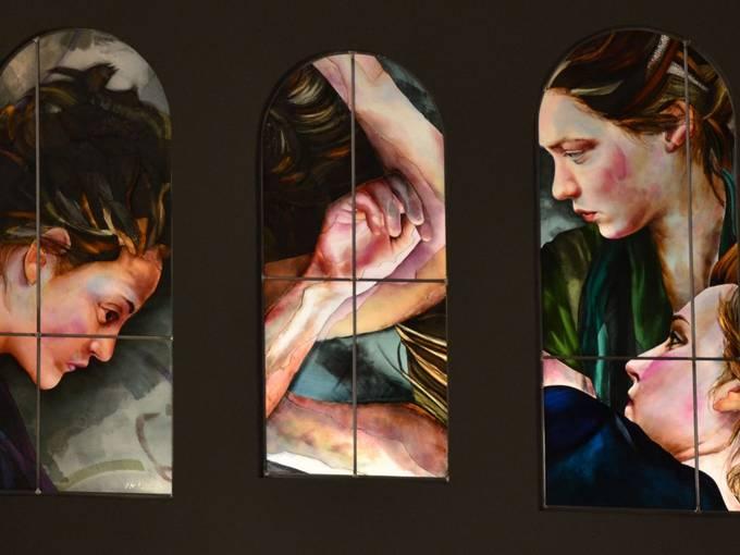 Xenia Hausner, Trilogie Kreuzigung, Bildarchiv Vereinigte Domstifter