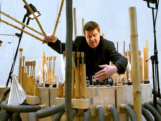 Hans van Koolwijk am Bambuso Sonoro ® PR Hellerau